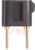Pin Tip, Shorting Bar; Black; 5 A; 3000V (RMS) (Max.); degC (Max.); 0.08 in. -- 70198012