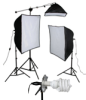 KSB-1250 ECONOMY SOFTBOX LIGHT KIT: 1250 WATT 2-LIGHT SOFTBOX LIGHT KIT -- 408087