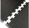 Notrax Diamond Top Interlock 545 Black Rubber Diamond-Plate Anti-Fatigue Mat - 36 in Width - 31 in Length - 545 36 X 31 BLK END -- 545 36 X 31 BLK END
