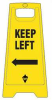 Floor Sign, Yellow, 24 In., 2 Sided -- 6DMG5