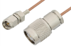SMA Male to TNC Male Cable 72 Inch Length Using RG178 Coax, RoHS -- PE34248LF-72 -Image
