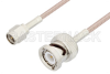 SMA Male to BNC Male Cable 48 Inch Length Using RG316 Coax, LF Solder, RoHS -- PE3C2360LF-48 -Image