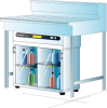 Captair® Ministore 822 D Small Storage Cabinet - Image