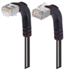 Shielded Category 6 Right Angle Patch Cable, Right Angle Down/Right Angle Up, Black, 5.0 ft -- TRD695SRA4BLK-5 -Image