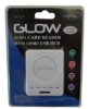 Offspring Glow 3-Port USB Hub/Card Reader -- UCRL3P