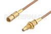 SSMC Plug to SSMC Jack Bulkhead Cable 12 Inch Length Using RG178 Coax -- PE3C4389-12 -Image