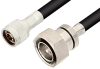 N Male to 7/16 DIN Male Cable 36 Inch Length Using RG214 Coax, RoHS -- PE3218LF-36 -Image