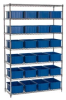 Chrome Wire Shelving with QUANTUM Dividable Grid Containers -- 5925318 - Image