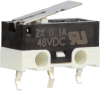 MICRO SWITCH ZX Series Subminiature Basic Switch, SPDT, 48 Vdc, 0.1 A, Straight Lever Actuator, PCB Snap-in Termination -- ZX10C30B01