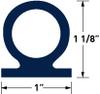 60 Durometer EPDM Profile Centerbulbs -- PR4264 - Image
