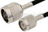 N Male to TNC Male Cable 24 Inch Length Using PE-C195 Coax -- PE35785-24 -Image