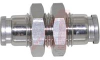Fitting, stainless steel, straight union, for 1/4 in tube -- 70072068