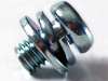 Phillips Indented Hex Head Double SeScrew 8.8 Steel Zinc Yellow, JIS B1187-B, M6X12 -- M40969