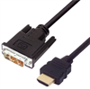 Premium DVI to HDMI Cable Assembly, HDMI-M/DVI-D Single Link-M 1.0M -- MDA00049-1M