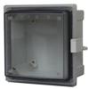 PC Enclosure, Hinged Transparent Screw Cover W/Plastic Quick Release Latch -- AR664CHLT