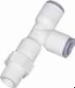 LIQUIfit Fittings -- 6503 Swivel Run Tee Inch Tube to NPTF - Image