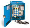 PurgeX Infrared Sensing Lubrication System with 7 Air-Operated PurgeX Pumps, Nema 12 Enclosure, 100-240VAC 50/60Hz -- B3651-107