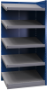 Closed shelving with sloped shelves (add-on unit for series) -- SRB2T-EE750501 - Image