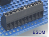 Wire-to-Board Fixed Terminal Block -- ESDM Ultra-Miniature Series -- View Larger Image