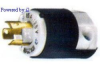 Locking Plug Black/White 10A 250V 3P -- 78358517875-1 - Image