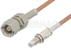 SMC Plug to SMC Jack Bulkhead Cable 48 Inch Length Using RG178 Coax -- PE33352LF-48 -Image
