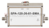 6 GHz to 12 GHz, Medium Power Broadband Amplifier with 1 Watt, 38 dB Gain and SMA -- SPA-120-30-01-SMA -Image