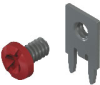 Slim-Line PC Screw Terminal, 90°- Unassembled w/ Red screw
