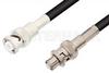 MHV Male to SHV Plug Cable 72 Inch Length Using 93 Ohm RG62 Coax -- PE3451LF-72 -Image
