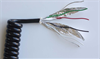 Modular Shielded Keyboard Coil Cords : Flame Retardant Polyurethane -- 54620 - Image