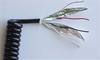 Modular Shielded Keyboard Coil Cords : Flame Retardant Polyurethane -- 57620 -- View Larger Image