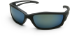 Edge Kazbek Black Aqua Precision Blue Polarized TSKAP-218 Safety Glasses -- TSKAP-218