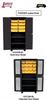 PLASTIC BIN 14 ga. WELDED CABINET WITH SHELVES -- HDH236-BL - Image