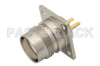 3/4 inch-20 Twinax Female Connector Solder Attachment 4 Hole Flange Mount Solder Cup Terminal, .718 inch Hole Spacing -- PE4347 -Image