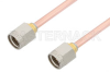 2.92mm Male to 2.92mm Male Cable 24 Inch Length Using PE-118SR Coax -- PE34739-24 -Image