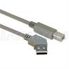 45 Degree USB Cable, 45 Degree Left Angle A Male / Straight B Male, 0.3 m -- CA45LA-B-03M - Image
