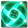 Quad Green LED 80mm Fan -- 1001 -- View Larger Image