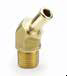 Hose Barb Fittings -- Beaded Hose Barb 45 Elbow to Metric Thread 179HB-X-MIX - Image