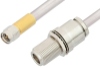 SMA Male to N Female Bulkhead Cable 6 Inch Length Using PE-SR401AL Coax , LF Solder -- PE34159LF-6 -Image