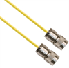 TRS Plug 3-Slot Male to TRS Plug 3-Slot Male 50 Ohm 0.156 O.D. Yellow jacket 36-inch Triax Cable -- MP-2610-36 -Image