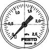Pressure gauge -- MA-50-2,5-1/4-EN -Image