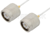 TNC Male to TNC Male Cable 48 Inch Length Using PE-SR047FL Coax -- PE34280-48 -- View Larger Image
