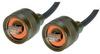 IP68 Cat5e Cable, Ruggedized RJ45, Plug to Plug, ZnNi Finish w/ FR-TPE Cable & Dust Caps, 5.0m -- T5A00015-5M -Image