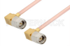 SMA Male Right Angle to SMA Male Right Angle Cable 36 Inch Length Using RG405 Coax, RoHS -- PE3820LF-36 -Image