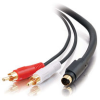 25ft Value Series™ S-Video + RCA Stereo Audio Cable -- 2202-02311-025