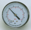 Vacuum Gauge,2 In,30 In Hg,Back -- 4FMC1