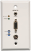 VGA with Audio over Cat5/Cat6 Extender, Wallplate Receiver, 1920x1440 at 60Hz, Up to 1000-ft., TAA -- B132-100A-WP-1