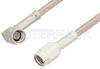 SSMA Male to SSMA Male Right Angle Cable 18 Inch Length Using RG316 Coax -- PE36573-18 -Image