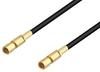 SSMC Plug to SSMC Plug Low Loss Cable 6 Inch Length Using LMR-100 Coax -- PE3C4419-6 -Image