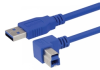 USB 3.0 A male to right angle right exit B male 2M -- MUS3A00029-2M -Image