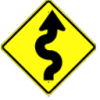 Winding Road Sign -- W1-5